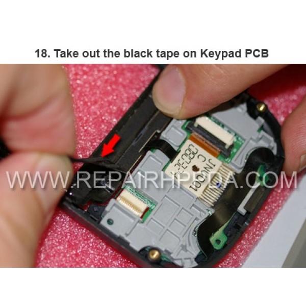 18 Take out the black tape on Keypad PCB
