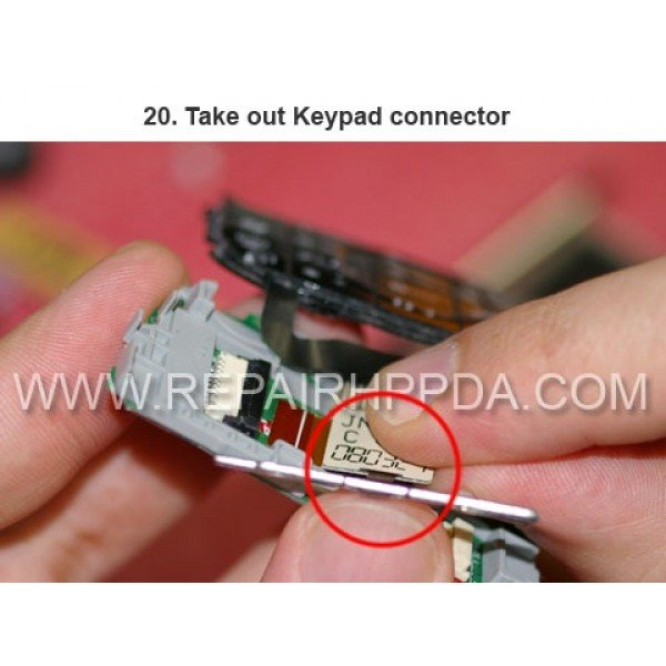 20 Take out Keypad connector
