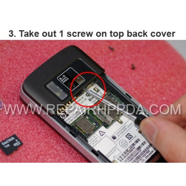 3 Take out 1 screw on the top back cover