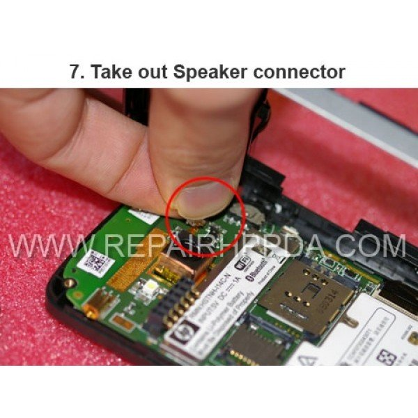 7 Take out the Speaker connector