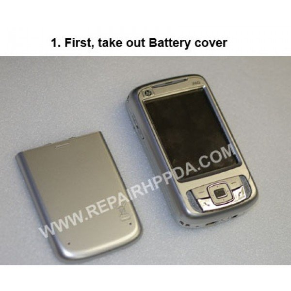 1 First, take out battery cover