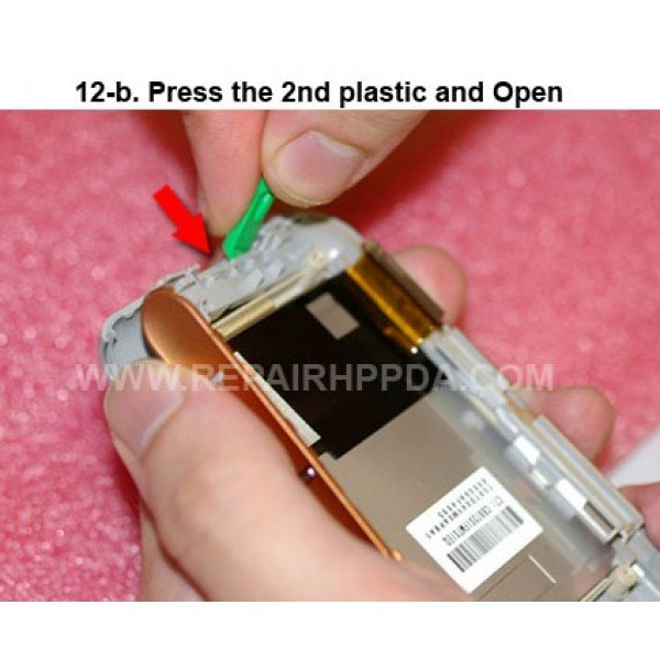 12b Press the 2nd plastic and Open