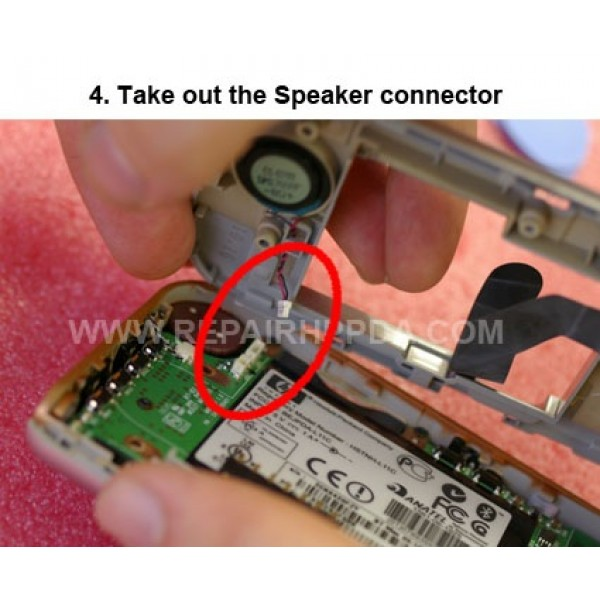 4 Take out Speaker Connector