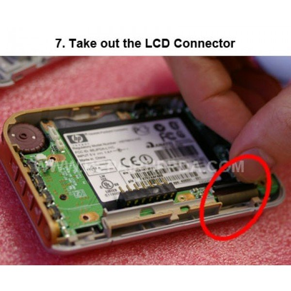 7 Take out the LCD Connector