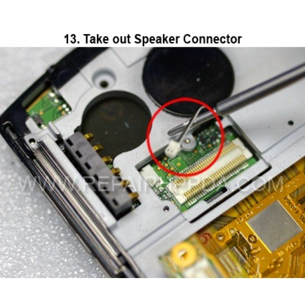 13 Take out the Speaker Connector