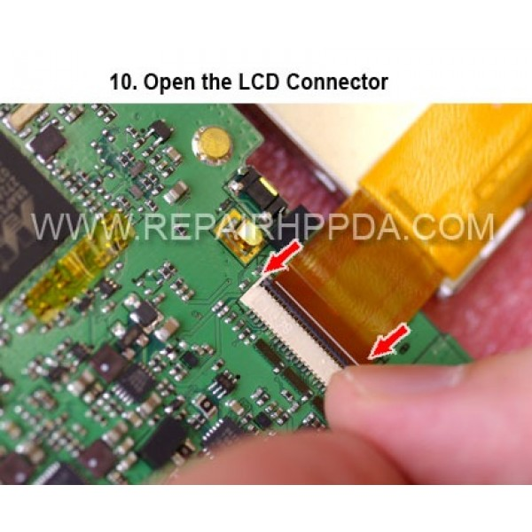 10 Open the LCD Connector