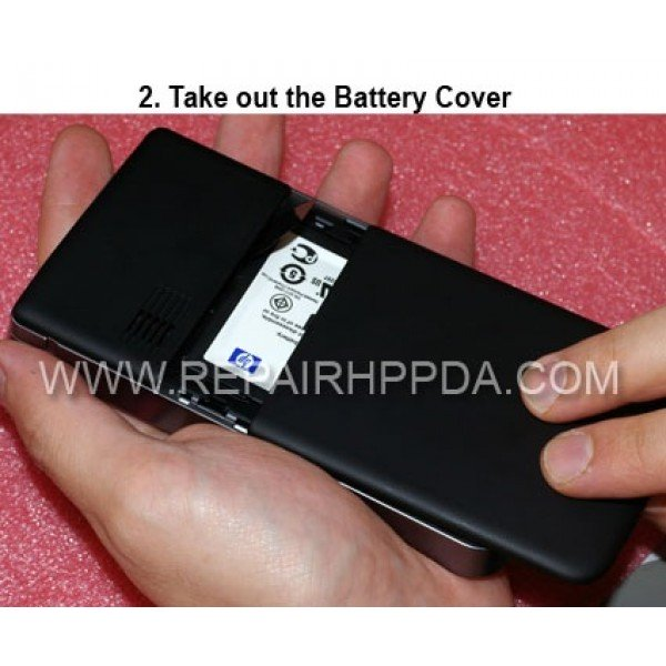 2 Take out the battery cover