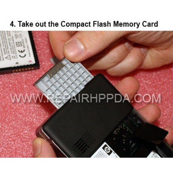 4 Take out the CF Memory Card